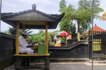 Priest at Suranadi Water Temple